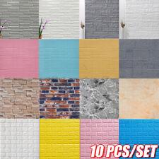 10 Stk 3D Tapete Selbstklebend Wandpaneele Wandaufkleber Ziegelstein Multi-Stil