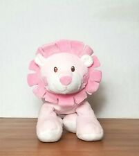 BABIES R US Pink Lion Mane Plush Rattle Stuffed Animal Baby Toy Girls 2013