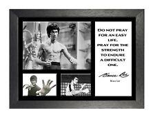 Bruce Lee 11 Menschen ändert Poster Schauspieler Film Motivation Hongkong Zitat Foto