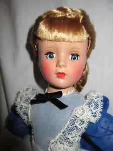 "1950s Madame Alexander MEG Little Women 14"" Doll, Fashion Academy w Accessories"