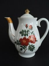 Lefton Teapot or Coffee Pot with orange Roses Vintage