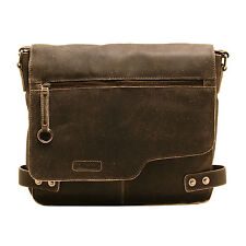 ASHWOOD -  ANTIQUE BROWN DISTRESSED VINTAGE LEATHER CAMDEN MESSENGER BAG
