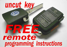 NEW 2005-2007 VW KEYLESS REMOTE ENTRY FOB TRANSMITTER UNCUT KEY HLO1K0959753P