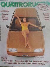 Quattroruote 331 1983 Alfa Nissan. Ferrari: nasce la cabriolet e torna la GTO