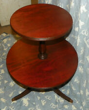 Mahogany Two Tier Table or Dumbwaiter Table  (T102)