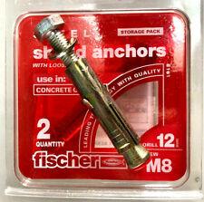 pack de 25-FISCHER Fixations M6 x 55 mm FWB loose mur en maçonnerie Boulons
