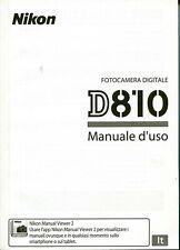 Nikon D810 D-810  manuale istruzioni Italiano, NUOVO,Originale