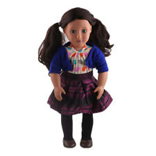 2017 best gift 4pcs clothes for 18inch American girl doll party N384