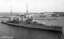 ROYAL NAVY YORK CLASS HEAVY CRUISER HMS EXETER ENTERS MALTA c 1940 - RIVER PLATE
