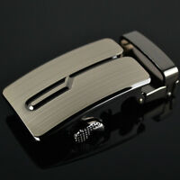 Laser Alloy Men's Strap Leather Belt Buckle Automatic Waistband
