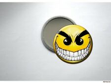 VAMPIRE SMILEY FACE EVIL SMILE Pocket /Purse Mirror