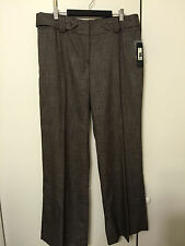 NWT APT. 9 Ladies Brown & White Tweed Dress Pants  sz 14 MSRP $48.00 Maxwell Fit