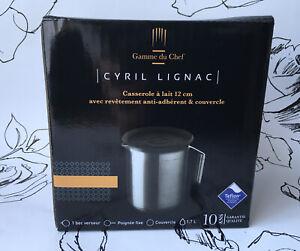 Cyril Lignac- Casserole a Lait. Non-Stick Covered Milk Pan & Lid. RRP £59