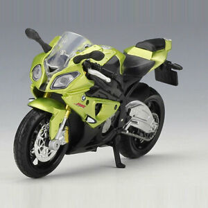 1:18 BMW S1000RR Motorcycle Model Diecast Toy Motorbike Gift for Boys Green