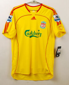 2006-07 LIVERPOOL FC Away S/S No.17 Craig Bellamy Player Issue EPL Jersey Shirt