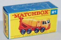 Matchbox Lesney Product No 21 Foden Concrete Truck Repro empty box style F