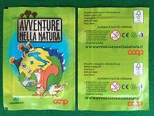 1 BUSTINA AVVENTURE NELLA NATURA sigillata sealed packet COOP Sticker