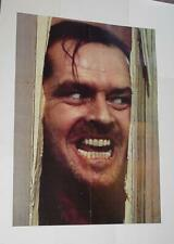 The Shining Poster Here's Johnny Jack Nicholson Stanley Kubrick Room 237