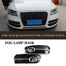 Front Fog Light Covers Honeycomb Grills Fit for Audi Q5 Non-Sline Non-SQ5 13-16