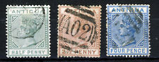 ANTIGUA Queen Victoria 1882 The Complete 1st.Wmk Crown CA Set SG 21 to SG 23 VFU