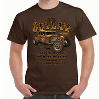 Hotrod 58 T Shirt The Outlaw American Garage Vintage Classic Hot Rat Rod Car 59