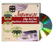 JAPANESE CLIP ART FOR MACHINE EMBROIDERY (pb) by Alan Weller Book & CD set NEW