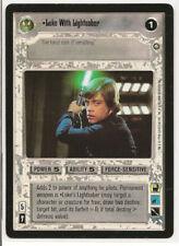 Star Wars CCG Luke With Lightsaber | Enhanced Premiere | MINT + Bonus!