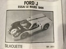 Ford GT40 J Car Experimental Racer, Die Cast Model RARE No Longer In Production