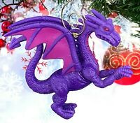 "Purple Winged Dragon 3.5"" Custom Made Christmas Tree Ornament"