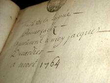 TRAITE DE LA SAIGNEE MANUSCRIT AUTOGRAPHE COMPLET 16 PAGES DE 1764 MEDECINE