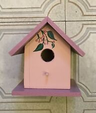 Birdhouse, indoor decorative, wooden, handpainted, & signed by local artist