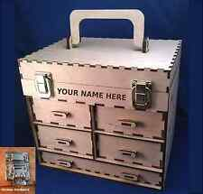 Personalized 5-Drawer Wood Toolbox/Jewelry Box Kit- Make It Your Own!