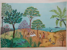 Lisca ayde aydé BRASILE BRASIL BRAZIL CACTUS Cane Pappagallo pescatore naive pittura