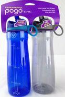 Pogo 32oz Tritan Chug Water Bottle 2 pack - Blue & Gray - NEW