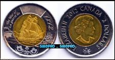 CANADA 2012 CANADIAN WAR OF 1812 FAMOUS SHIP QUEEN TOONIE RARE $2 DOLLAR COIN