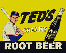 Ted Williams Creamy Root Beer Advertising Poster, 8x10 Color Photo