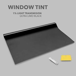 ULTRA LIMO BLACK 1% CAR WINDOW TINT 6Mx76 FILM TINTING