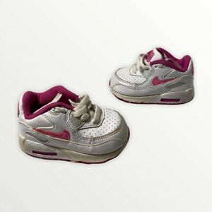Nike Air Max 90 Toddler Girl's Shoes White/Pearl/Pink 4.5c