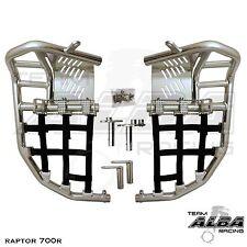 Raptor 700  Nerf Bars  Pro Peg  Heel Gaurds  Alba Racing  Silv Blk 197 T7 SB