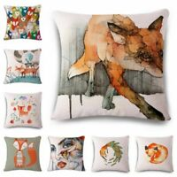 "18""*18"" Fox Linen Cotton Fashion Throw Pillow Case Cushion Cover Home Sofa Decor"