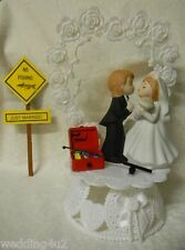 Wedding Reception Engagement Party Just Married Sign ~Gone Fishing~  Cake Topper