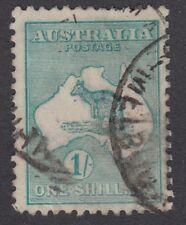 AUSTRALIA :1913 1/- green   die II  SG 11 used