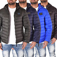 Mens TOV Quilted Padded Down Feather Puffer Designer Bomber Hooded Jacket Coat