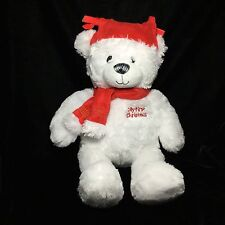 """Kids Preferred Red White My First Christmas Teddy Bear Plush 2011 Soft Toy 17"""""""