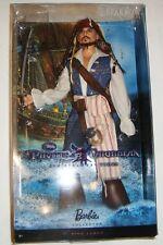 Barbie Ken Pirates of the Caribbean Captain Jack Sparrow Doll NRFB xb800