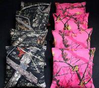 CORNHOLE BEAN BAGS REALTREE Camo Camoflauge 8 ACA Real Tree BLACK  & PINK CAMO