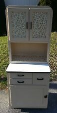 Vtg Antique HOOSIER Style Kitchen Cabinet Cupboard Enamel Porcelain PULL OUT Top