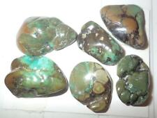 Turquoise Rough Stone Surface Flat Bottom Free Form Cab 208 Carat 6 pieces