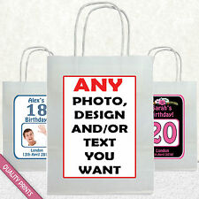 CUSTOM PARTY BAG GIFT BAGS BIRTHDAY 16TH 18TH 20TH 30TH 40TH 50TH 60TH BAGS