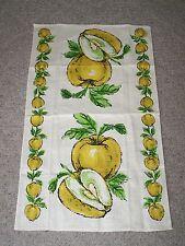 Vintage Printed Kitchen Tea Towel Yellow Apples